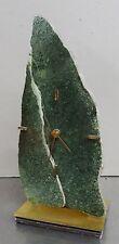 Dekorative Aventurin Steinuhr Tischuhr Stein Uhr Tisch Quarz Uhr Kienzle ~ 70er