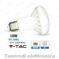 Lampadina led V-TAC 10W = 65W E27 bianco freddo 6000K VT-1894 R80 faretto bulbo