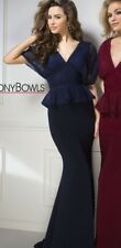 Tony Bowls Prom Dress  Party  Evening  Long Sexy Color Navy  Size 6