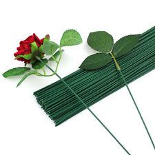50 stücke 30 cm * 2mm Blumen Stiel Dunkelgrün Draht künstliche Blumenkopf A UE