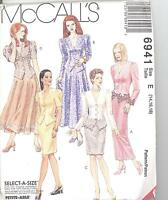 McCall's 6941 Misses' Unlined Jacket and Skirt in Two Lengths  Sewing Pattern