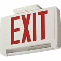 Lithonia ECBR LED M6 LED Exit/Emergency Light Bar Combo Fixture Red Letters -NEW