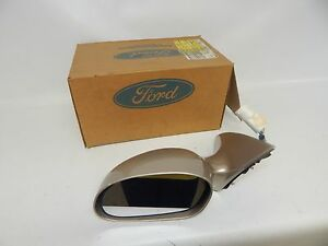 New OEM 96-99 Ford Mercury Power Door Mirror Left Hand Side View Heated Beige