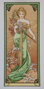 Alphonse Mucha Spring 1900 French Nouveau Art Poster Print.