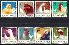 Animaux Basse-cour Roumanie (188) série complète 8 timbres oblitérés