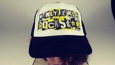 Party Like A Rockstar ROCKSTAR ENERGY DRINK  Black & White Trucker Hat Mesh Snap