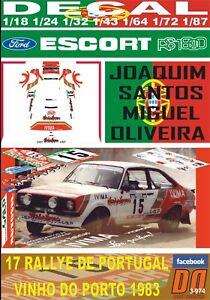 DECAL FORD ESCORT RS 1800 MKII J.SANTOS R. DE PORTUGAL 1983 9th (06)