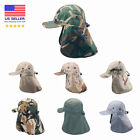 Premium Quality Ear Flap Sun Hat Neck Cover Baseball Cap Visor Camo Army Fishing
