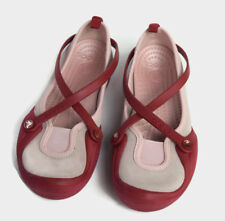 Crocs Women's SZ 6 Mary Janes Shoes Pink/Red Flats Comfort Slip Ons