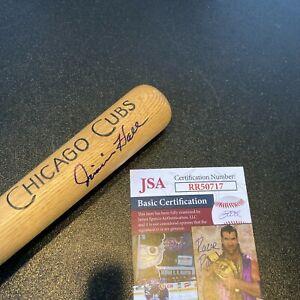 Jimmie Hall Signed 1960's Louisville Slugger Mini Baseball Bat Chicago Cubs JSA