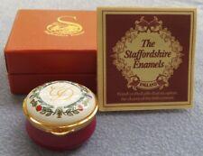 Staffordshire England Enameled Trinket Box Charles & Diana Wedding Ltd Ed MIB