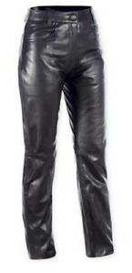 Ladies JEANS Pants Trousers Cruiser Motorbike Motorcycle Soft Leather Bikers 28