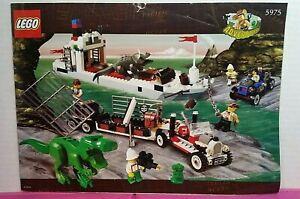 Lego Adventurers 5975 T-REX TRANSPORT - Complete w/Orig BOX / 2000/USED/326 Pcs