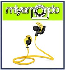 Wireless Bluetooth Earphone Headset Yellow for Sport Athlete