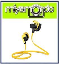 Wireless Bluetooth Earphone Headset Yellow for Sport Athlete