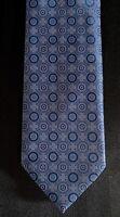 New Brioni Blue Tones Medallions Silk Necktie Tie 3.5 X 59