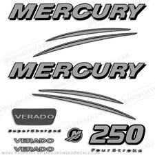 Mercury Verado 250hp Decal Kit - Silver