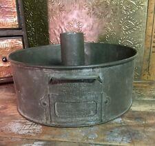 Vintage Swans Down Cake Pan Advertising Funnel Bunt Tin Pan Chicago USA