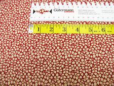 Kleine Ranken • natur / rot • Baumwolle gemustert • 0,5m