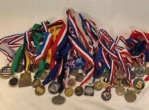Mixed Lot of 30+ Half Marathon, 5K Running Medals 1st Place Arizona St Louis