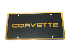 Corvette License Plate with Gold C4 Letter and Border