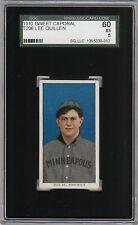 Rare 1909-11 T206 Lee Quillen Sweet Caporal 350 Minneapolis ML SGC 60 / 5 EX