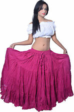 New Tribal 100% Cotton Gypsy Skirt 4 Tier 25 Yard Cute Belly Dance Tribal Jupe