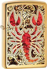 Zippo 2016 Catalog NEW Lobster Scorpion Design High Polish Brass Fusion 29096