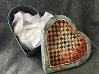 """Bob's Primitives Boxes One hearts shape Lang Card Co new unused box 6 X 6.5"""""""