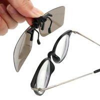 Anti-UVA UVB Car Driver Goggles Polarized Sun Glasses Clip On Sunglasses Driving