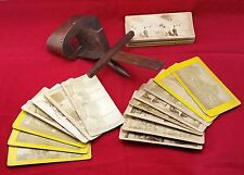 Victorian Stereoviewer, with 29 Stereoview Cards inc London & GB Topographical