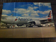 AMERICAN Airlines New Livery Boeing 777-200 Poster Airlines
