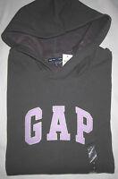 NWT Womens GAP Stretch Gray Logo Hoodie Sweatshirt XS, S, M