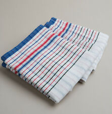 New 20 PCs Heavy Duty Commercial 100% Cotton RED BLUE VINTAGE STYLE tea towels