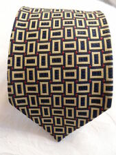 AUTHENTIC DUNHILL TIE 100% WOVEN SILK BLUE, GOLD AND RED MADE IN ENGLAND