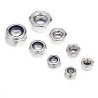 A2 Marine Grade Stainless Steel Nyloc/Nylon Insert Locking Nuts M4-M18