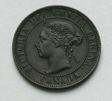 1900 Plain CANADA Victoria Coin - Large Cent 1¢ - lovely patina - surfaces dirty