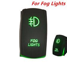 Car Rocker Switch Backlit Fog lights Green LED Light 5 Pins On-Off Switch 12V