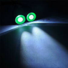 10mm 2Leds Angel & Demon Eyes LED Headlight Back Light For 1/10 RC Car Green+whi