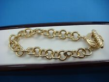 14K YELLOW GOLD LADIES LINK TOOGLE BRACELET 11.8 GRAMS 7 INCHES LONG