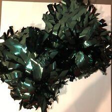 cheerleading pom poms - dark green metallic