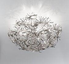Plafoniera contemporanea foglia argento coll. BELL ispirazione 1350/PL8L