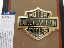 Harley Davidson Bar & Shield B&S Gold Emblem Medallion Sissy Bar Koffer 91815-85