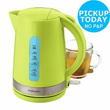CookWorks 3kW 1.7L Cordless Illumination Jug Kettle - Green.