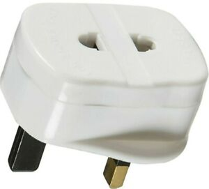 New Toothbrush/Shaver plug adapter UK to 2 pin socket 1A Fuse. UK SELLER