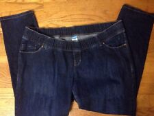 Old Navy Skinny Stretch Maternity Jeans 18 Pull On Style Woven Waist Ships Free