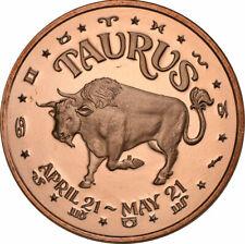 1 oz Copper Round - Taurus