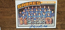 1976-77 TOPPS SABRES TEAM CARD SIGNED AUTO BY FLOYD SMITH RED WINGS BRUINS # 134