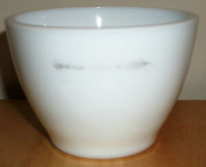 """White Milk Glass Cup by Anchor Hocking #904 Anchorware 2.5"""" Tall x 3.5"""" Diameter"""