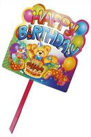 Playwrite PLASTIC GARDEN SIGN The Party Is Here Happy Birthday Children Girl Boy